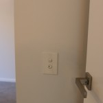 Door handles and light switches are aligned throughout the house