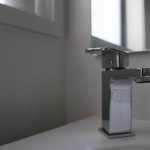 Lever handle taps are used throughout the home